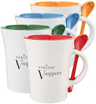 10oz Dolce Ceramic Mugs With Spoon